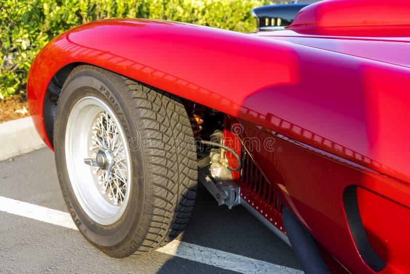 Detail einer Replik von Ferrari 250 Testarossa lizenzfreies stockfoto