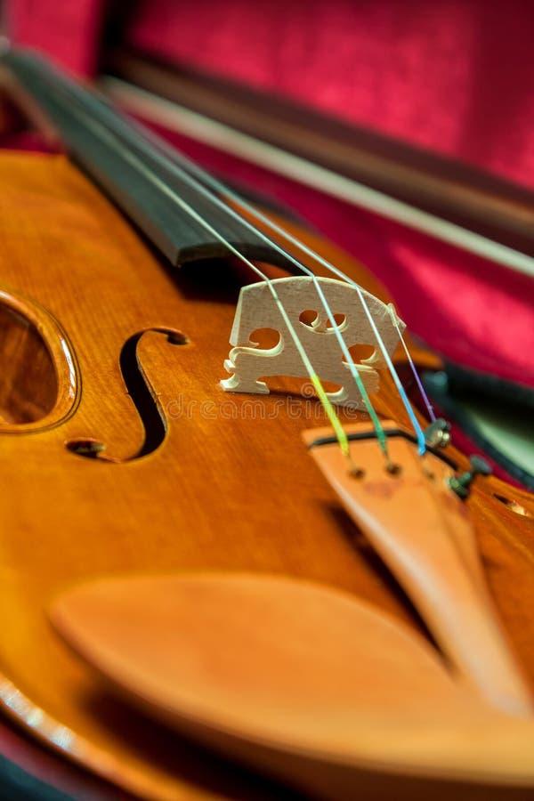 Detail einer schönen Violine lizenzfreie stockfotos