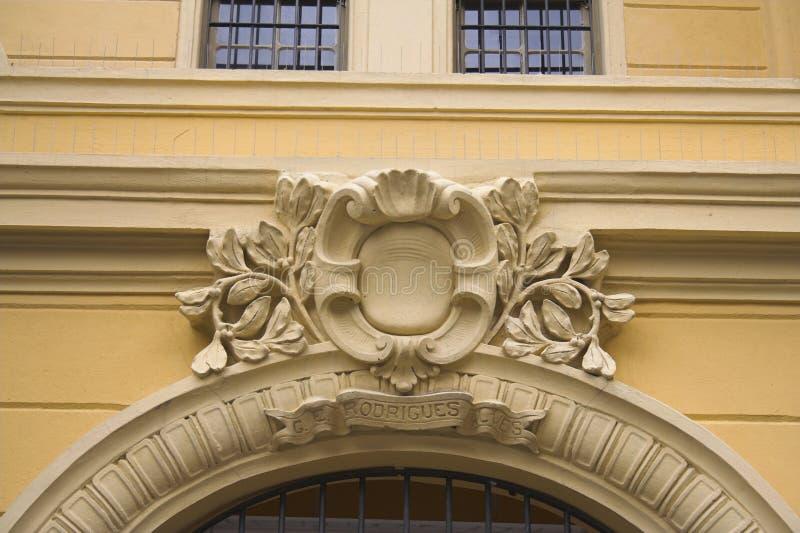 Detail einer Schule in Sao-Paulo lizenzfreies stockfoto