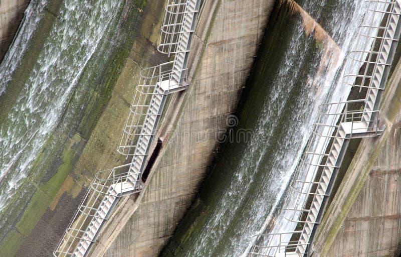 Detail einer Verdammung, die Hintertreppen stockfoto