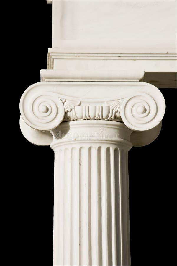Detail eines altgriechischen Pfostens stockfotografie