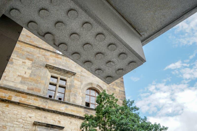 Detail eines Gebäudes Prag-Schlosses lizenzfreie stockfotos