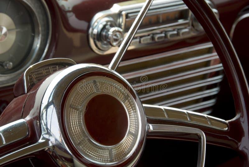 Detail eines klassischen Autos stockfotografie