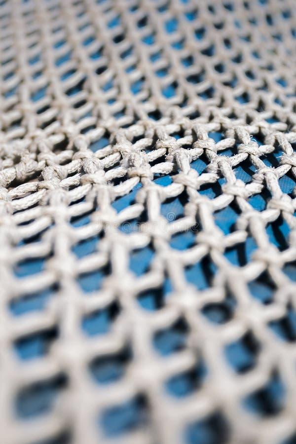 Detail eines kleinen Fischnetzes lizenzfreie stockfotos
