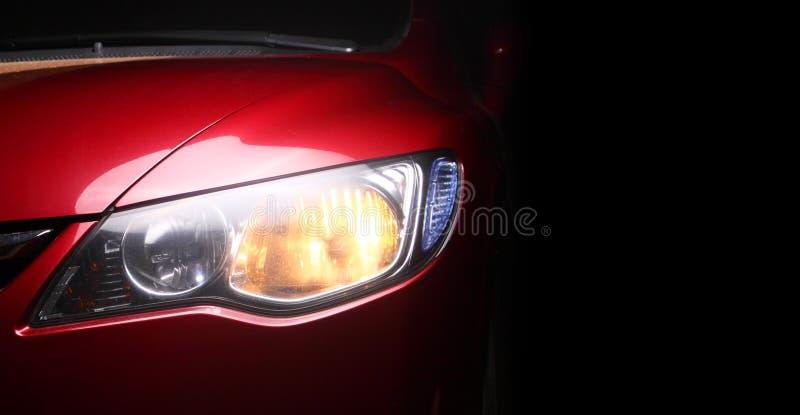 Detail eines Rotes sportscar stockfotos