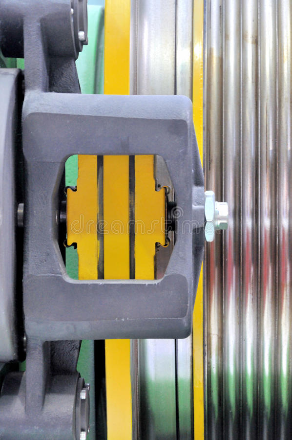 Detail of elevator equipment