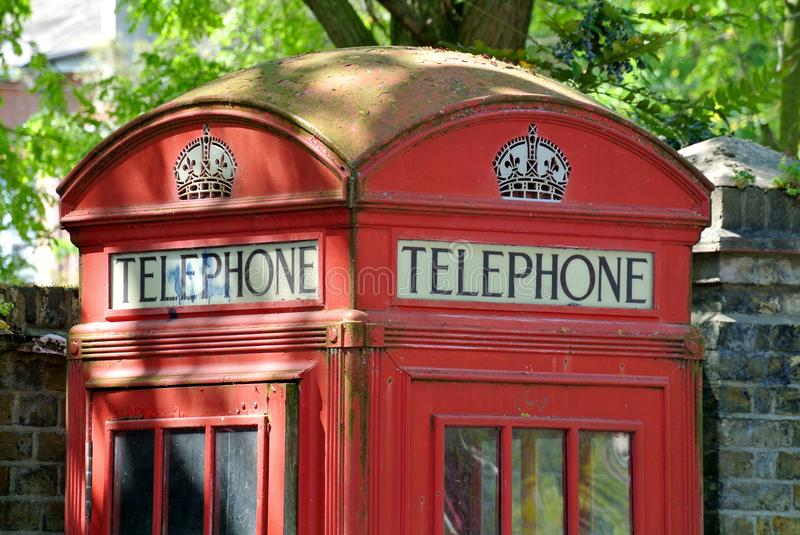 Detail of English telephone box royalty free stock photography