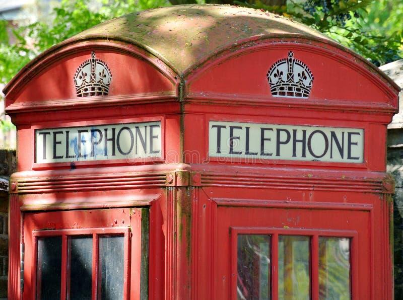 Detail of English telephone box royalty free stock photos