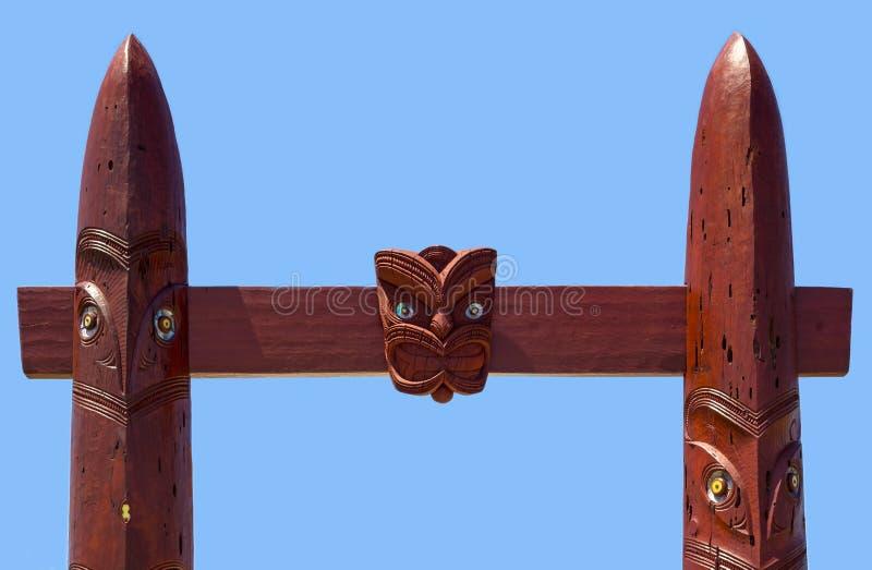 Detail of the Entrance gate to the Waitangi Regional Park royalty free stock photos