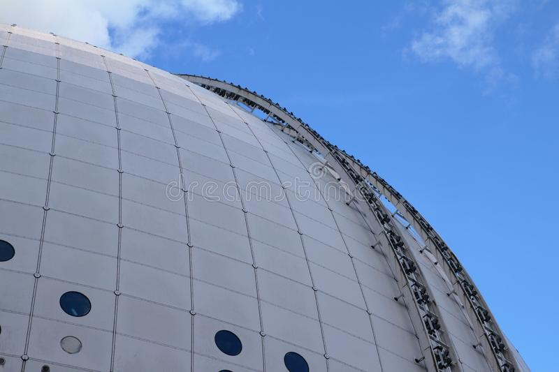 Detail of Ericsson Globe in Stockholm stock photo
