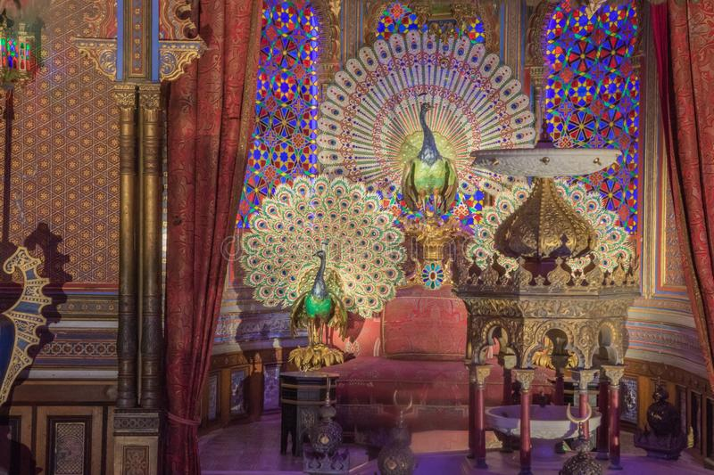 Detail of the exotic interior in the Moorish Kiosk royalty free stock images