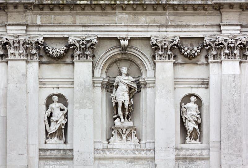 Detail of the Exterior of Santa Maria della Salute Church in Venice royalty free stock photos