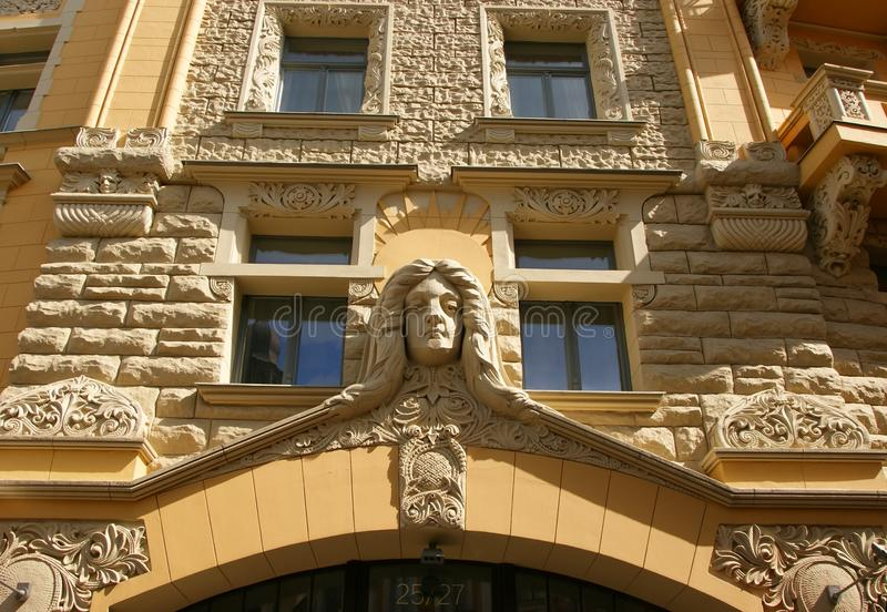 Detail of the facade stock photography