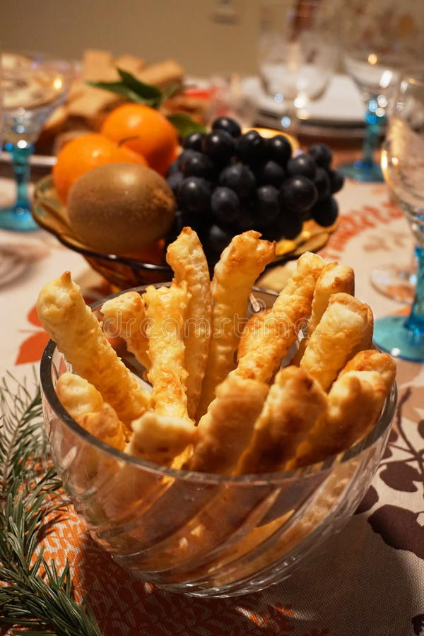 Download Detail Of A Festive Table With Salted Pastries-salées  In A Crystal Bowl, Stock Photo - Image: 83700173