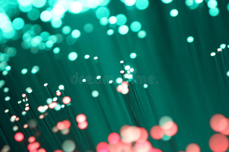 Detail of fiber optic red and green stock photos