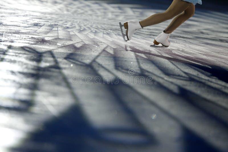 Detail of figure skating royalty free stock image