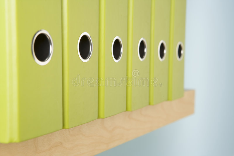 Detail Of Files On Shelf royalty free stock photos