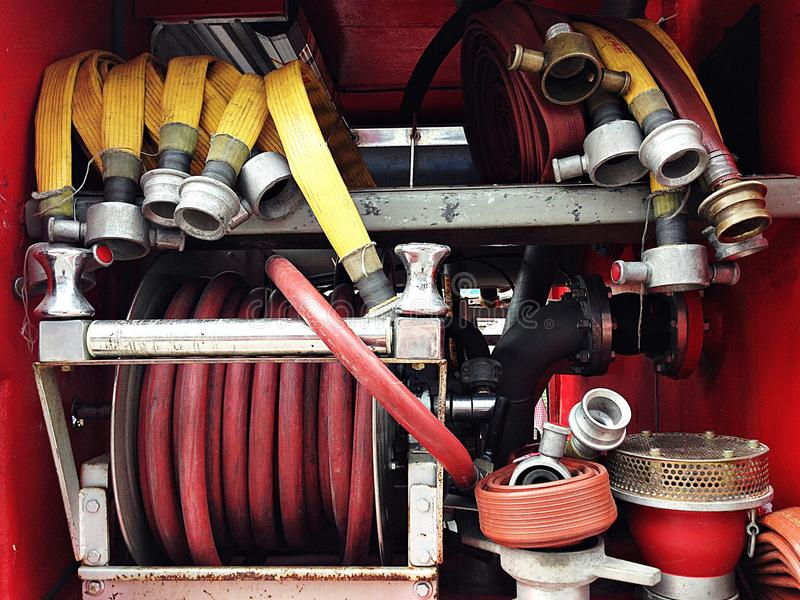 Detail of firetruck royalty free stock photos