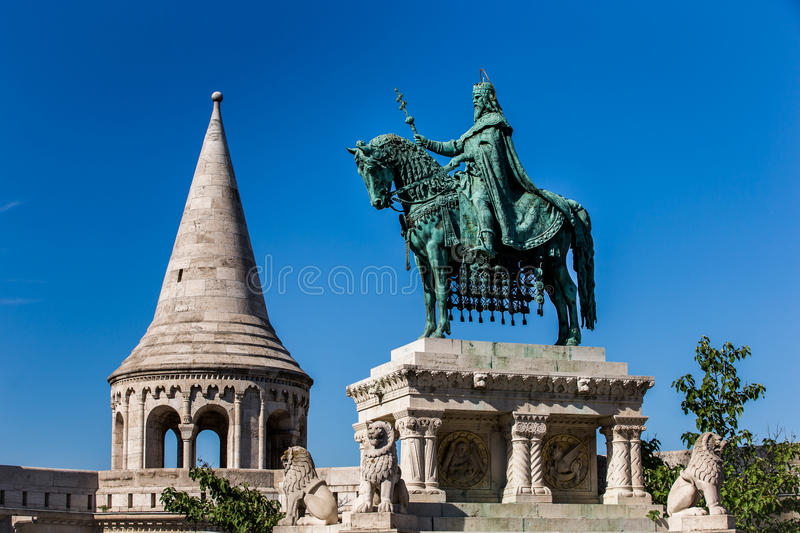 Detail of the Fishermans Bastion in Budapest Hunga stock images