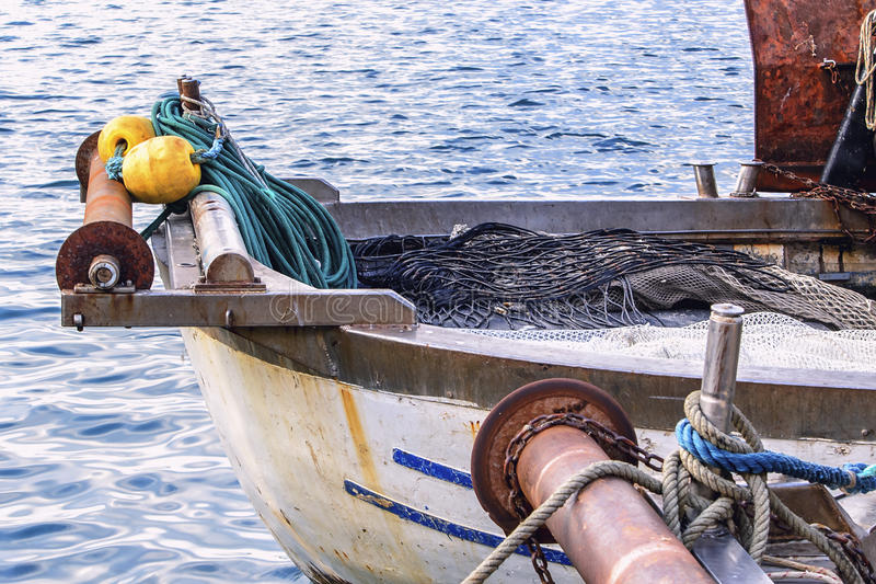Detail from fishing boat royalty free stock photos
