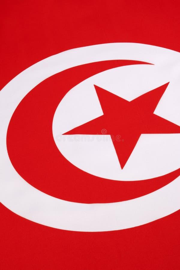 Detail On The Flag Of Tunisia Stock Photo