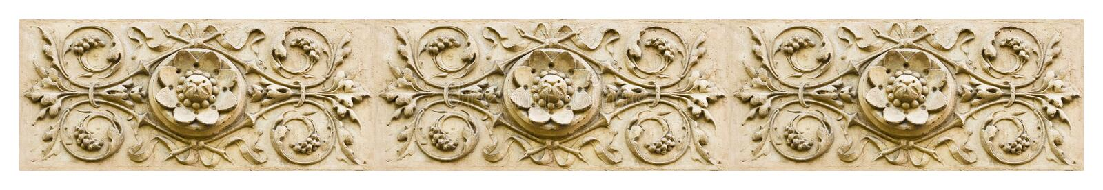 Detail of the floral decor of an Italian facade - banner concept image stock images