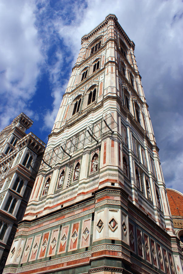 Detail of florence tower stock photography