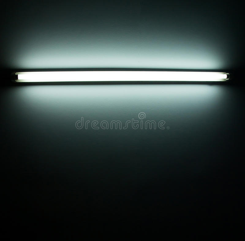 Detail of a fluorescent tube stock photos