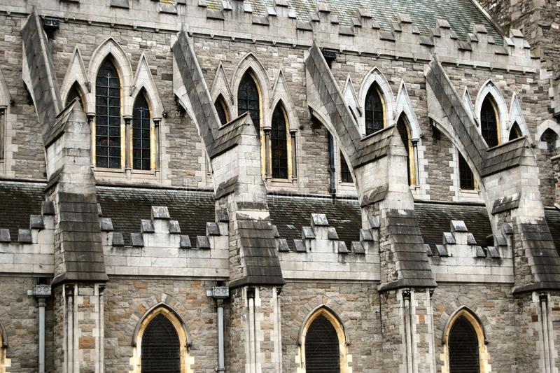 Download Flying Buttress Christ Church Cathedral Dublin Stock Photo