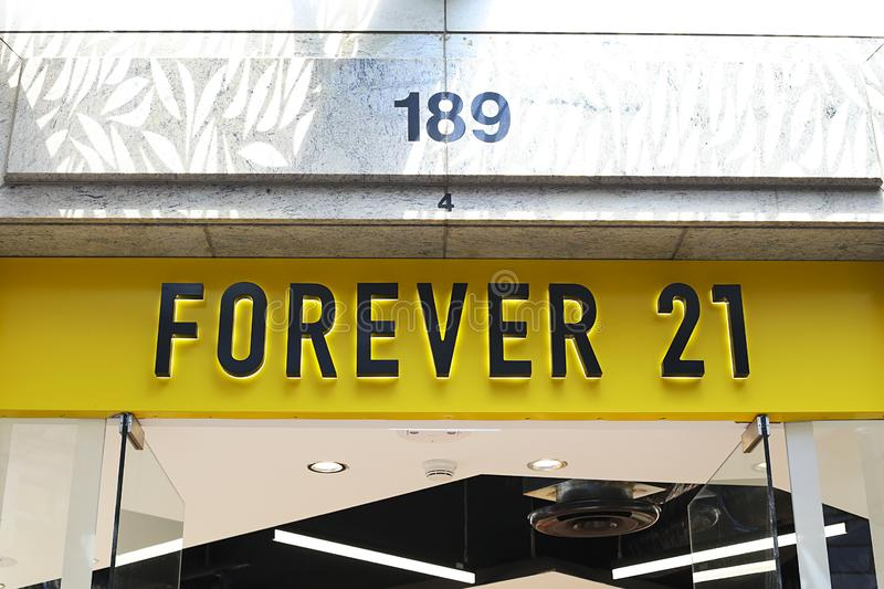 Forever 21 store royalty free stock image