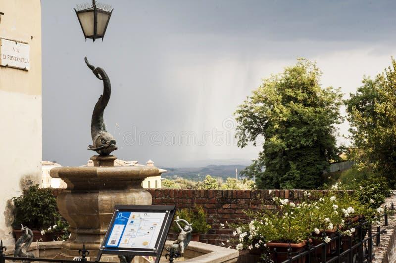 City Fountain in Siena, Tuscany, Italy stock photos