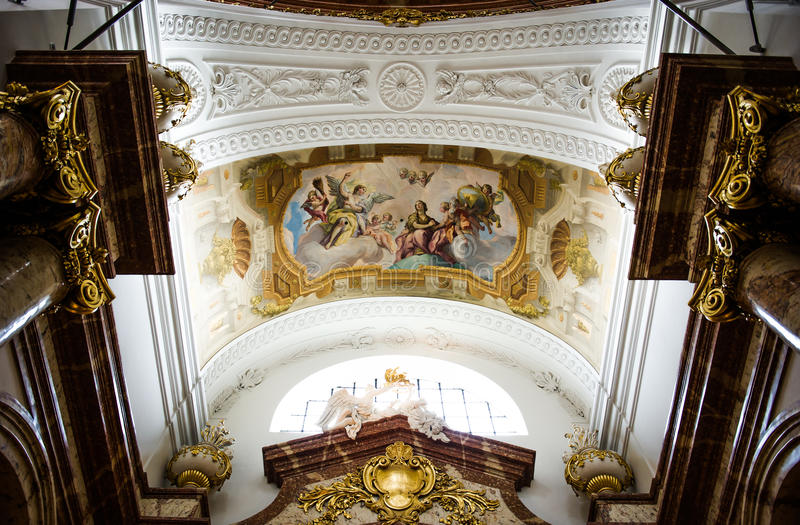 Download Detail Of The Fresco In The St. Charles's Church Stock Photo - Image: 24548804