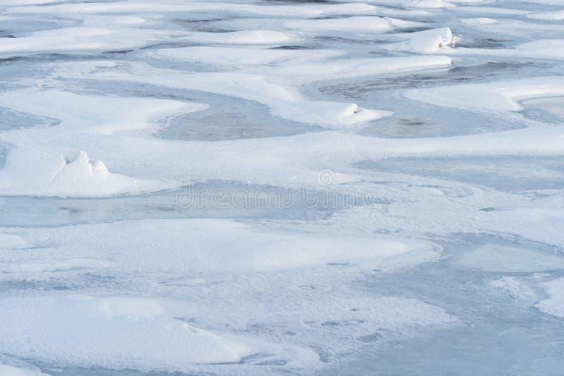 Detail of frozen sea ice royalty free stock photo