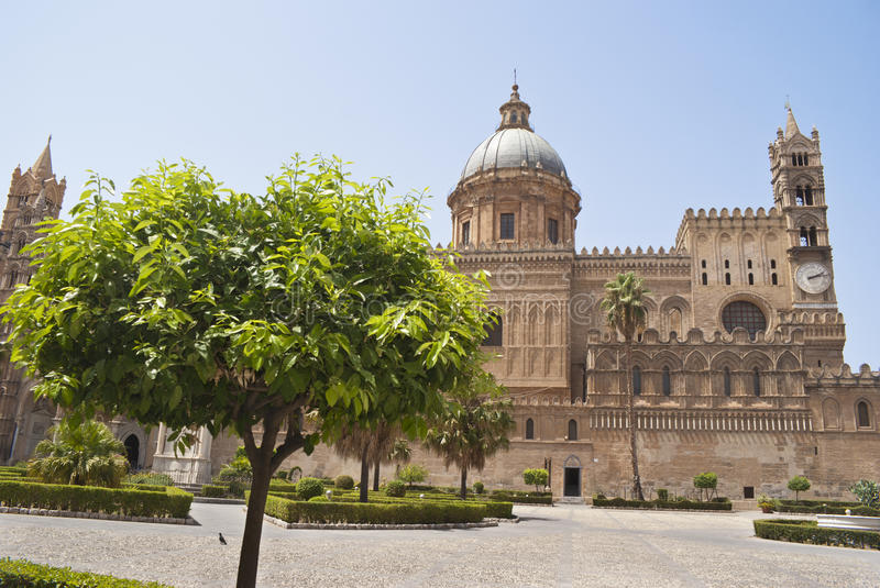 Detail of garden in Palermo Cathedral