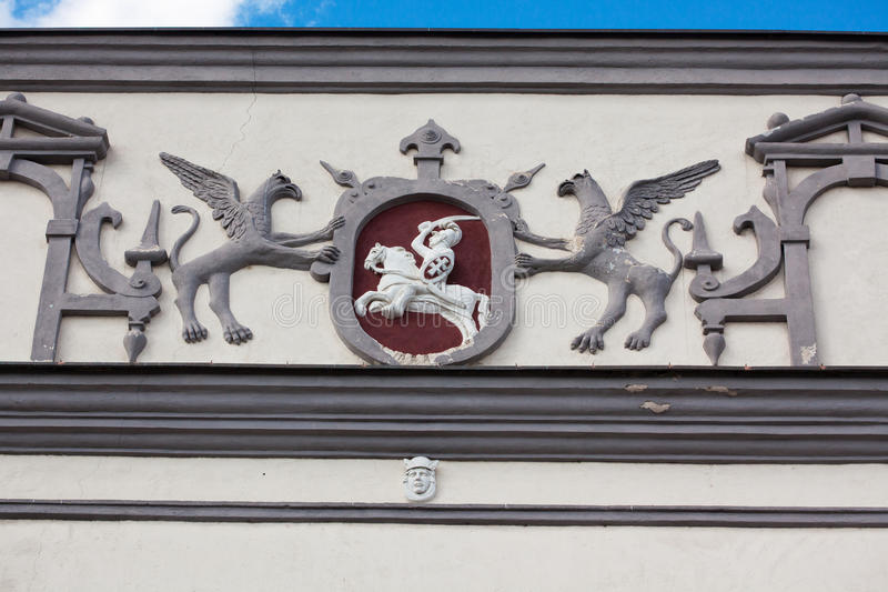 Detail of Gate of Dawn in Vilnius royalty free stock photos