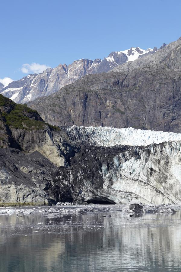 Detail Of Glacier In Glacier Bay Alaska USA royalty free stock photos