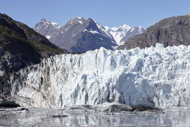 Detail Of Glacier In Glacier Bay Alaska USA stock photos