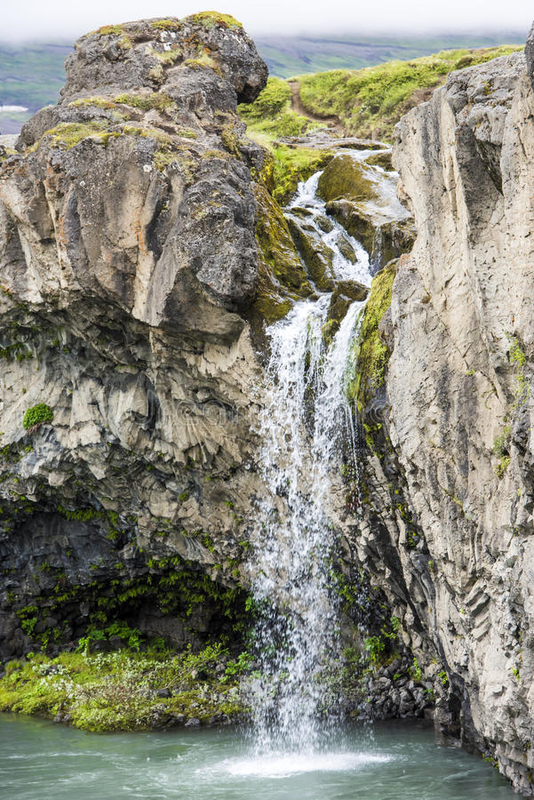 Detail Godafoos Waterfall, Iceland royalty free stock photos