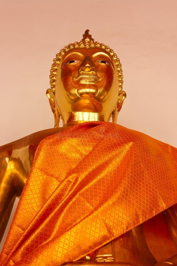 Detail of Golden Buddha Statue at Wat Phra Kae, Temple of the Emerald Buddha stock photo