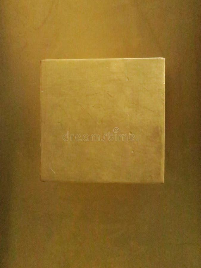 Detail of a golden doorknob on a door of a building in Paris royalty free stock photos