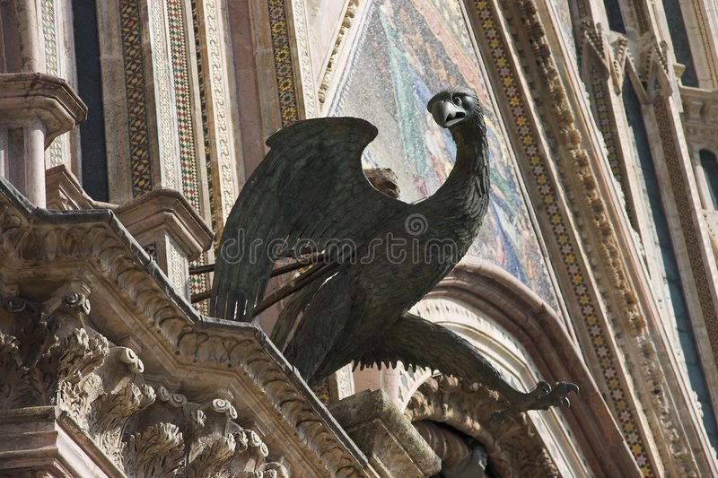 Detail of a Gothic Cathedral. royalty free stock image