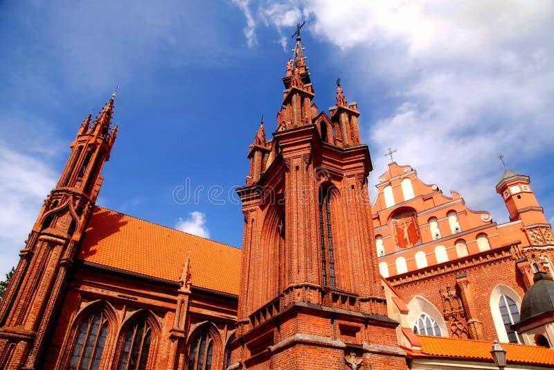 Detail gotischen St Anne von Kirche und von Kirche von St Francis lizenzfreies stockbild