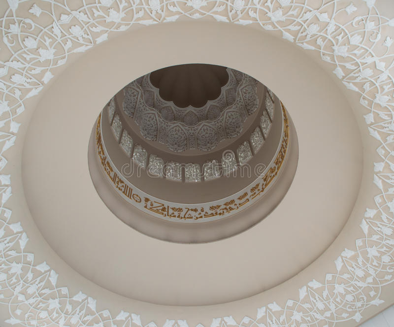 Detail of grand mosque of Abu Dhabi royalty free stock photography