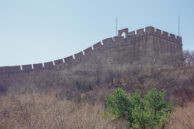 Detail of the Great Wall stock photography