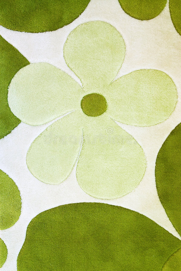 Detail Of Green Carpet Stock Photography