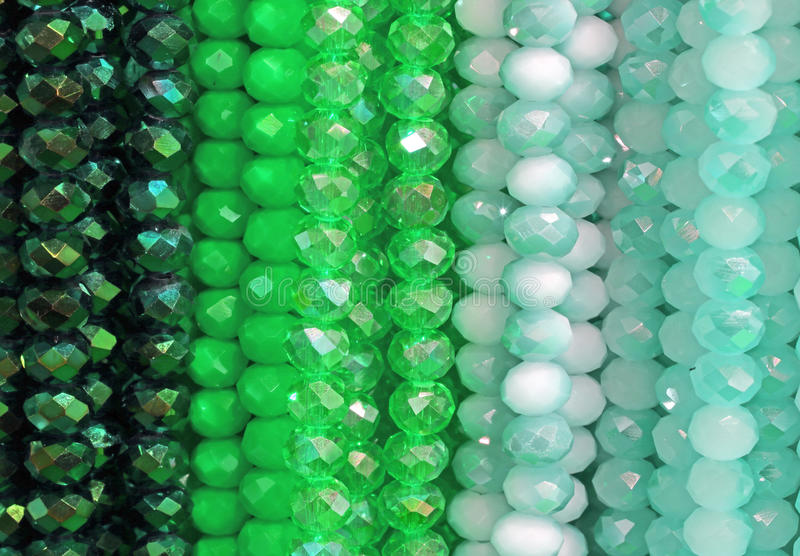 Detail of green perls of necklace. For sale in the shop stock image