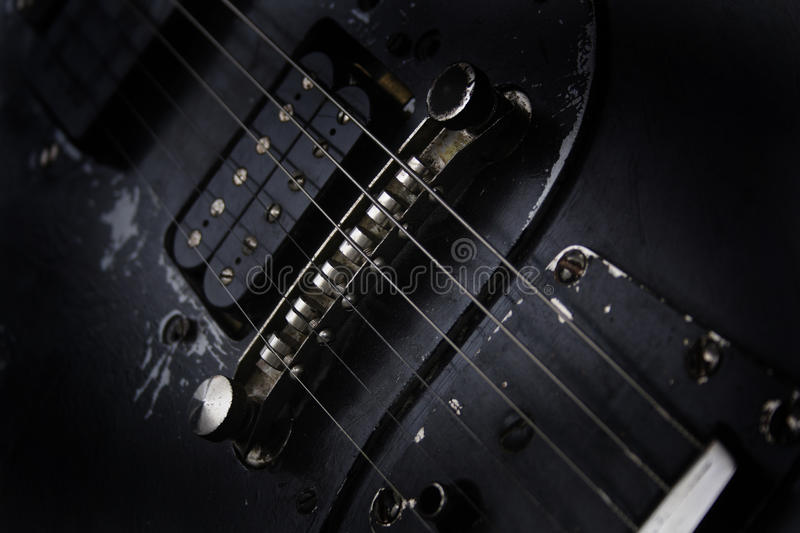 Detail of guitar royalty free stock photo