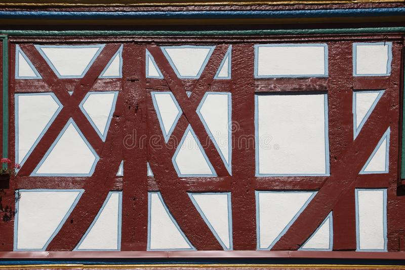 Detail of half timbered houses in Idstein. Germany stock images