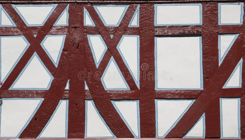 Detail of half timbered houses in Idstein. Germany royalty free stock photos
