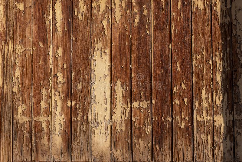 Detail of heavily weathered wood, building exterior, cracked peeling paint, desert southwest. Horizontal aspect royalty free stock photos